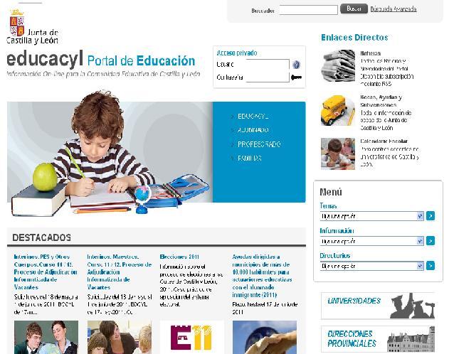 Calendario Educacyl.Educacyl El Portal Educativo De Castilla Y Leon Educacion 3 0