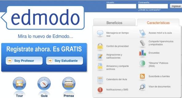 Edmodo, como aula virtual, red social y blog