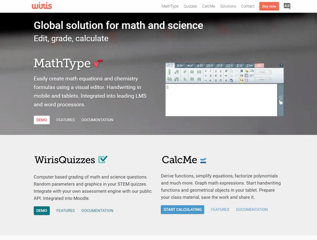 Matemáticas con WIRIS