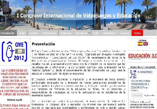 I Congreso Internacional de Videojuegos y Educación, una cita en Alicante y con acceso on line