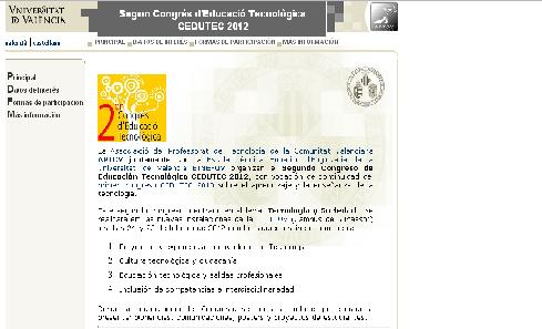 II Congreso de Educación Tecnológica, CEDUTEC, en Valencia 1