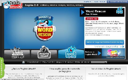 English Attack!, para aprender inglés on line y con recursos visuales 2