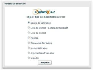 EvalCOMIX, un servicio web para la evaluación orientada al aprendizaje 2