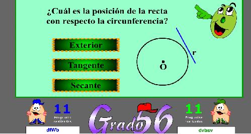Juego de preguntas Grado 56