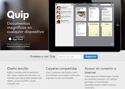 Quip, un procesador de textos colaborativo