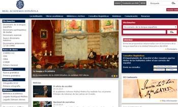Nueva web Real Academia Española