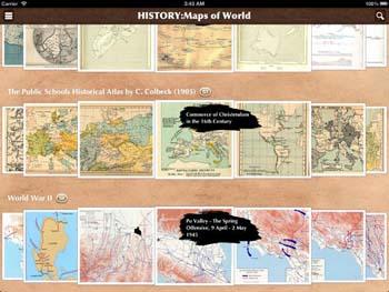 aplicación para iPad Mapas históricos del mundo