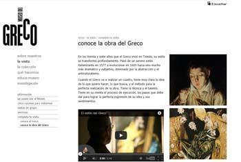 Página web Museo El Greco