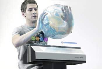 La pantalla interactiva que funciona con micropartículas de agua 1