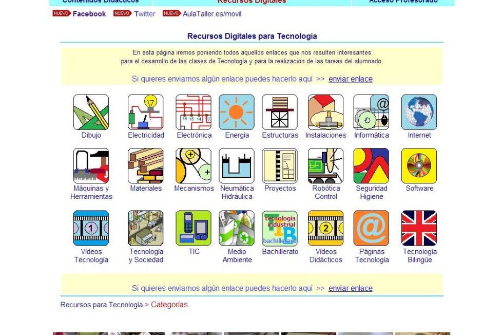 5 páginas web con recursos de Tecnología para Secundaria 1