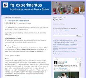 15 blogs con experimentos de Física y Química 5