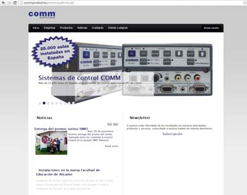 Sonido y control para el aula, con Comm Audiovisual 1