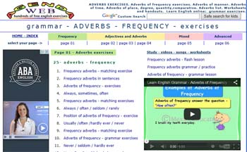 Aprender inglés agenda web
