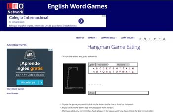 páginas para estudiar Inglés word games