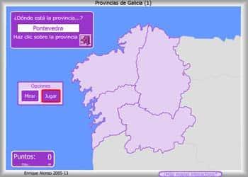 Juego de Geografía Mapas flash interactivos