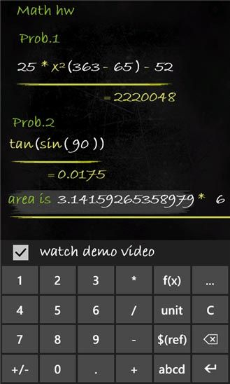 Smartboard Calculator, la calculadora para smarpthones Windows