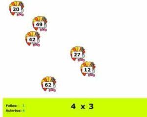 45 juegos interactivos para repasar las tablas de multiplicar 6