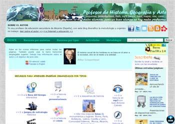 Un blog con recursos de Historia, Geografía y Arte