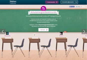 #aulamasgrandedelmundo, la campaña contra el Trabajo Infantil de Fundación Telefónica