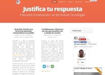 Justifica tu respuesta, un blog de un docente para otros docentes 1