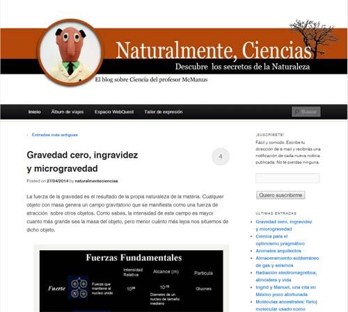 Naturalmente, Ciencias: el blog del profesor McManus