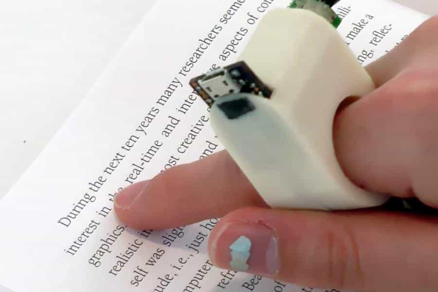 FingerReader: un anillo de lectura para invidentes