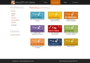 Educa3D, Recursos interactivos para el aula