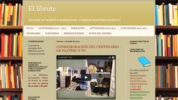 El librote: IES José María Morrón y Barrientos (Cumbres Mayores, Huelva