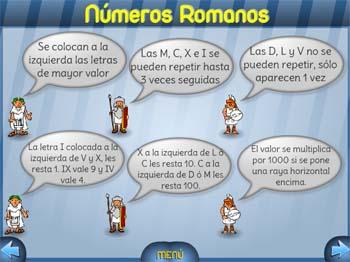 Números romanos con Vedoque