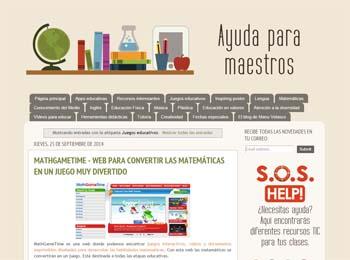 Ayuda para maestros, un blog con recursos para diferentes asignaturas