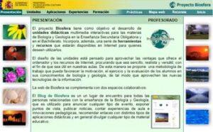 Proyecto Biosfera Bienvenido al área de Ciencias de la Naturaleza (Biología y Geología
