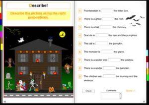Libro interactivo en inglés: leer, escuchar y jugar con el vocabulario de