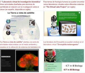 recursosTICbiología Laboratorios Virtuales
