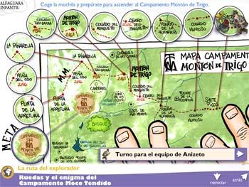 Libro de lectura Ruedas y el enigma del Campamento Moco Tendido
