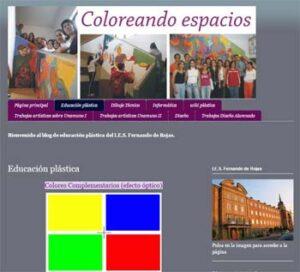 Coloreando espacios Educación Plástica