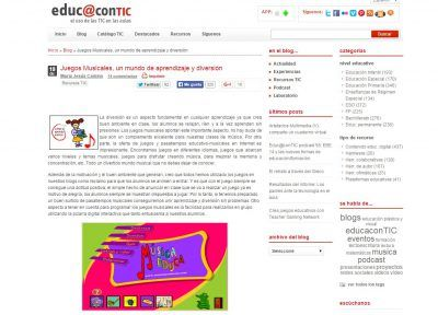 EDUCACONTIC Blogs de música