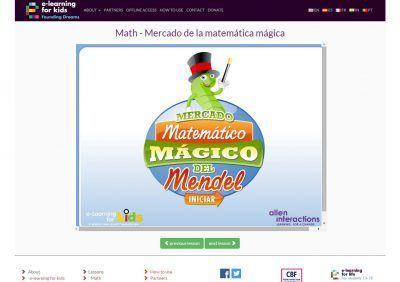 Mercado matemático mágico del Mendel
