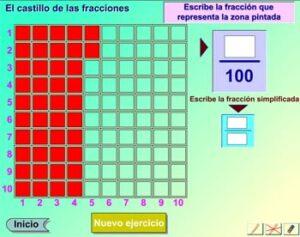 Recursos para estudiar y practicar las fracciones 7