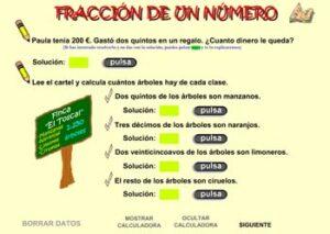 Recursos para estudiar y practicar las fracciones 9