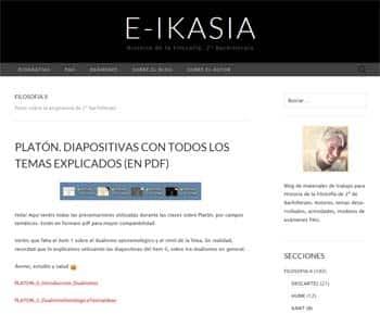 Blog E-IKASIA: Historia de la Filosofía 2º de Bachillerato