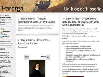 Blog Parerga, un blog de filosofía