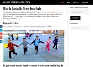 Blogs en español para la asignatura de Educación Física 4