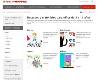 Recursos y materiales de Fundación Mapfre - educación vial para niños