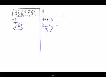 Cálculo de una raíz cuadrada