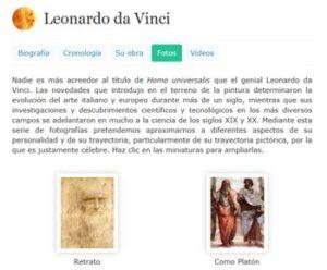 Recursos para estudiar a Leonardo Da Vinci 1