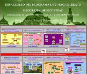Desarrollo del Programa de 2º de Bachillerato, Geografía-Selectividad