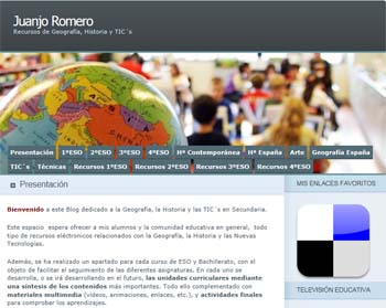 Blog de Geografía, Historia y TICs, de Juanjo Romero