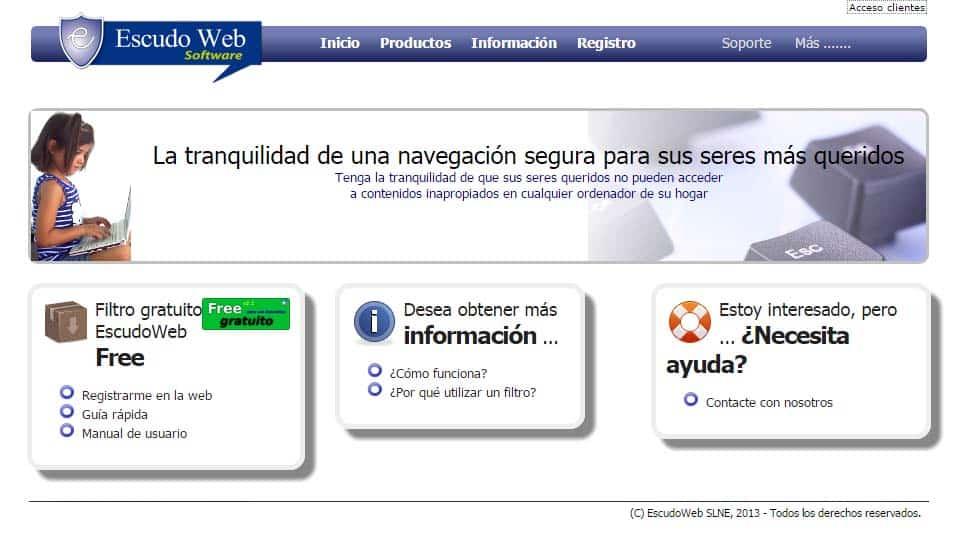 Navegación segura con Escudo Web