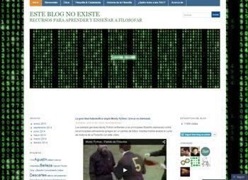 Este blog no existe. Recursos para aprender y enseñar a filosofar