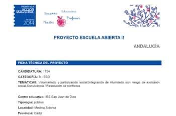 Proyecto Escuela Abierta II